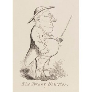 Figure 2: George Cruikshank, 'The Tyrant Sowster', Bentley's Miscellany (1838) © Victoria and Albert Museum