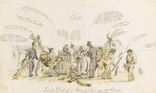 painting-depicting-charles-darwin